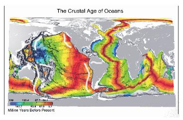 מפת קרקעית האוקיינוסים