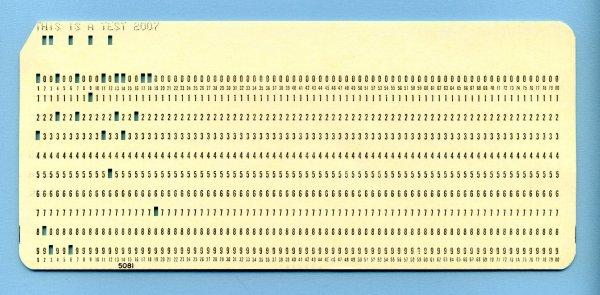 כרטיס ניקוב של IBM